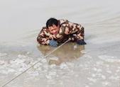 """""""阻泳第一人""""为生命守护黄河边"""
