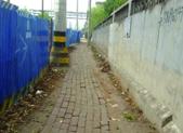 马路施工留出一米宽羊肠小道