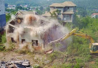 门牙景区旁8栋违建别墅拆了