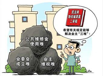 """民法典物权编草案剑指业主""""三难"""""""