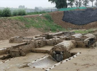 济南最大汉代画像石墓水下现身