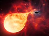 """一个黑洞的""""恒星大餐"""""""