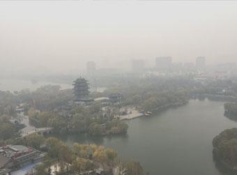 山东遭今冬首轮大范围雾霾