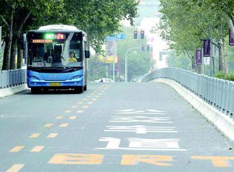 省城部分公交车道能跑私家车了